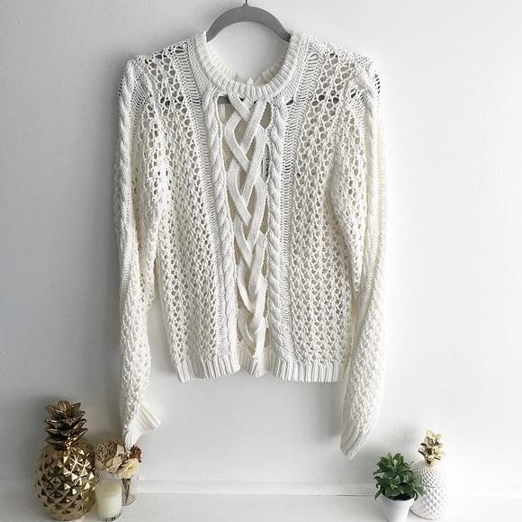 6a35adfb4a Zac Posen  Angela  Lace Up Sweater
